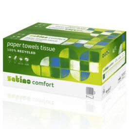 Satino Comfort Handdoeken, 2 laags, 25 x 23 cm, 3200 stuks